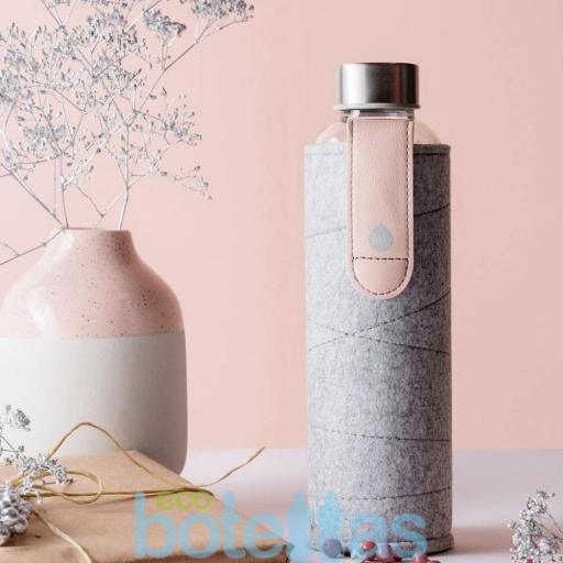 EQUA Pink Breeze botella de cristal (750ml) con funda [1]