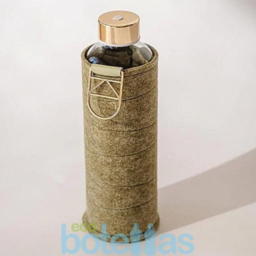 EQUA Pistacho botella de cristal (750ml) con funda [1]
