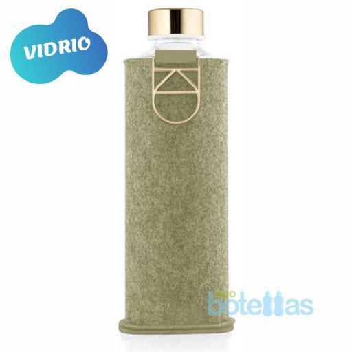 EQUA Pistacho botella de cristal (750ml) con funda