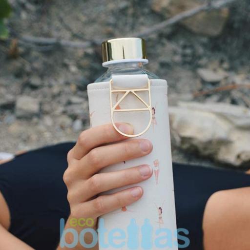EQUA Playa botella de cristal (750ml) con funda [1]