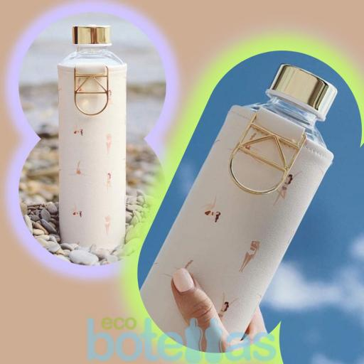 EQUA Playa botella de cristal (750ml) con funda [3]