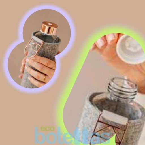 EQUA Rose Gold botella de cristal (750ml) con funda [2]