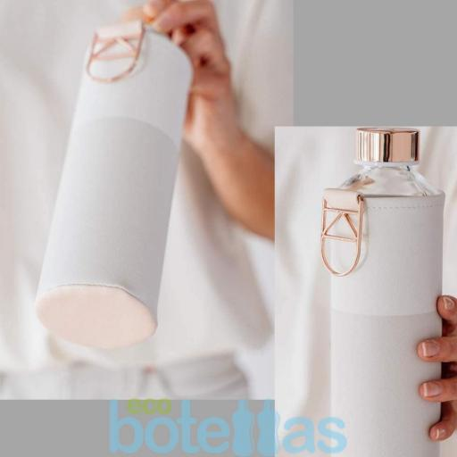 EQUA Sage botella de cristal (750ml) con funda [3]
