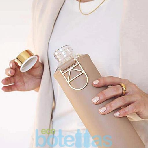 EQUA Sienna botella de cristal (750ml) con funda [2]