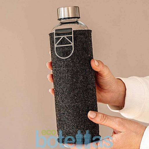 EQUA Silver botella de cristal (750ml) con funda [3]