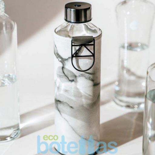 EQUA Stone botella de cristal (750ml) con funda [1]