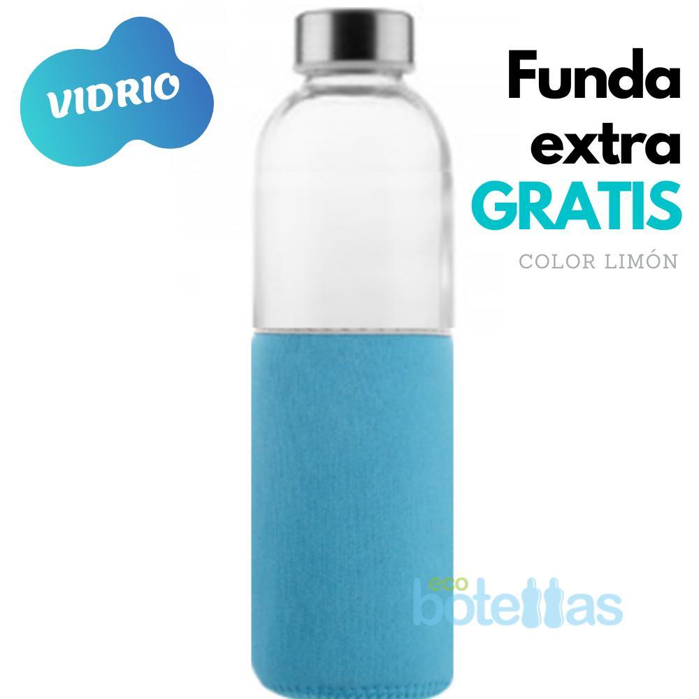 102-S Botella cristal Funda neopreno Cian (750ml)