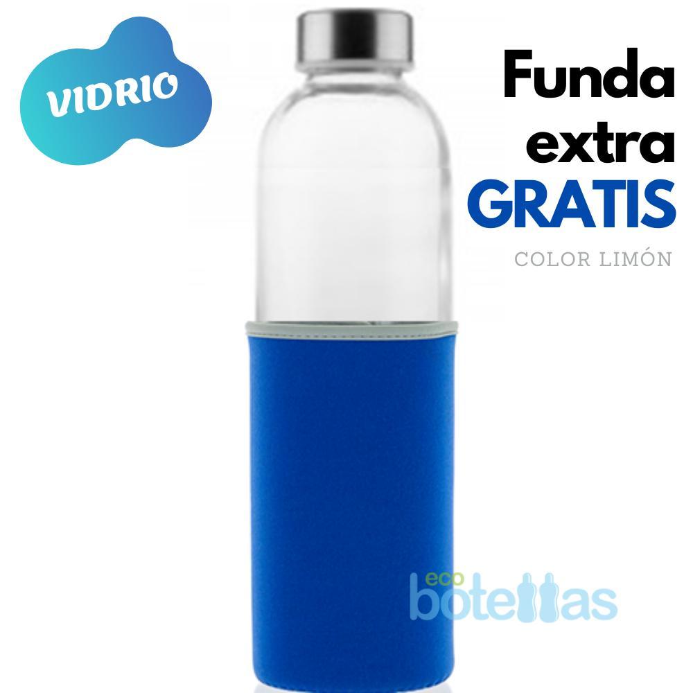 102-S Botella cristal Funda neopreno Azul (750ml)