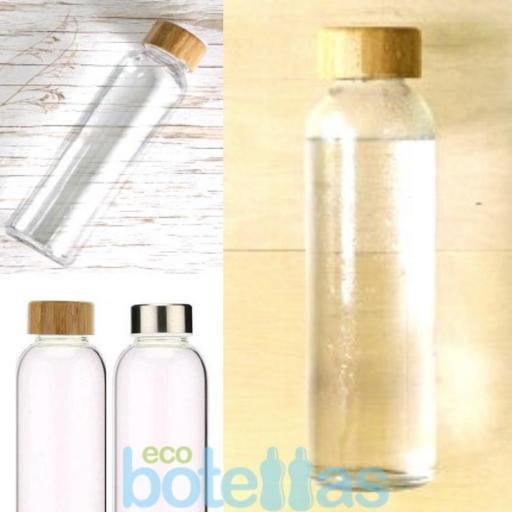 102-S Botella cristal Funda silicona Rosa (500ml) [3]