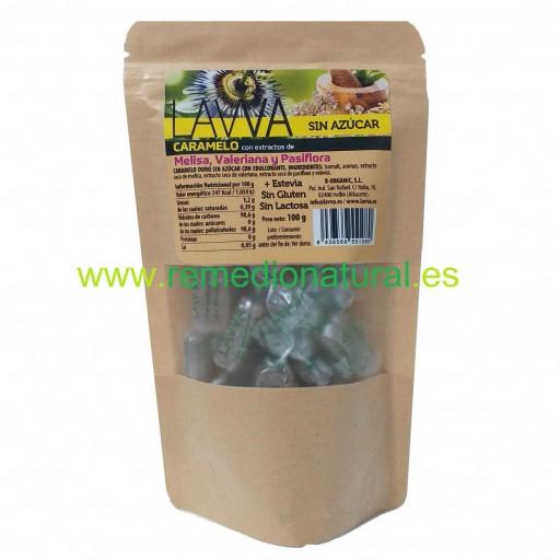 Caramelo Melisa, Valeriana y Pasiflora Sin Azúcar