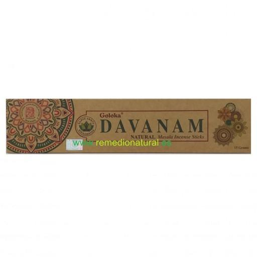 Incienso Orgánico Goloka Davanam