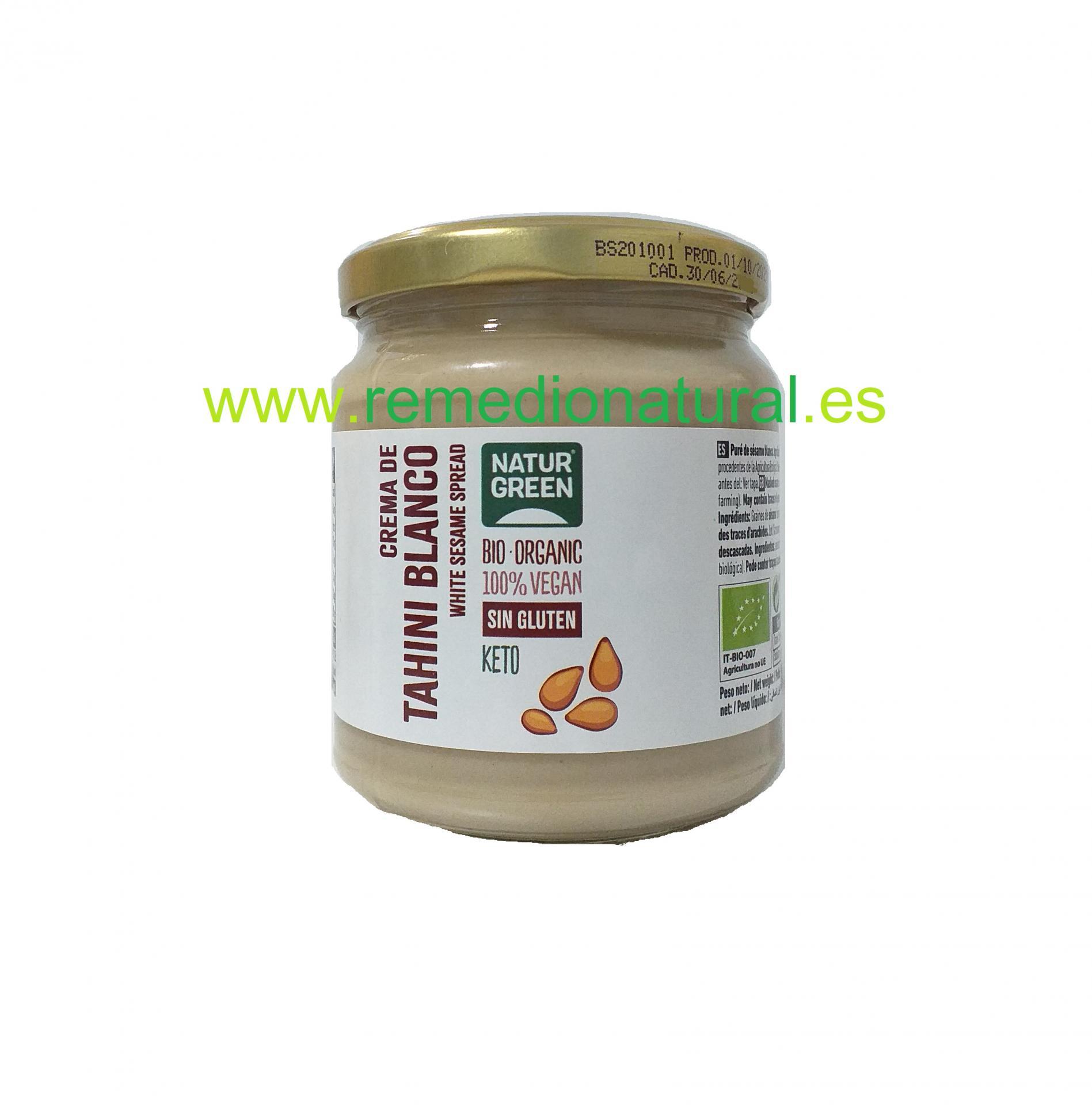 Crema de Tahini Blanco Bio 300g.
