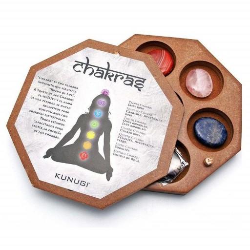 Chakra Caja Madera Octogonal