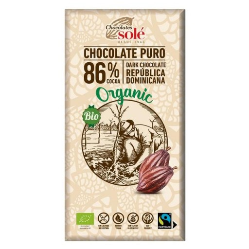 Chocolate Negro Eco 86% 100g.