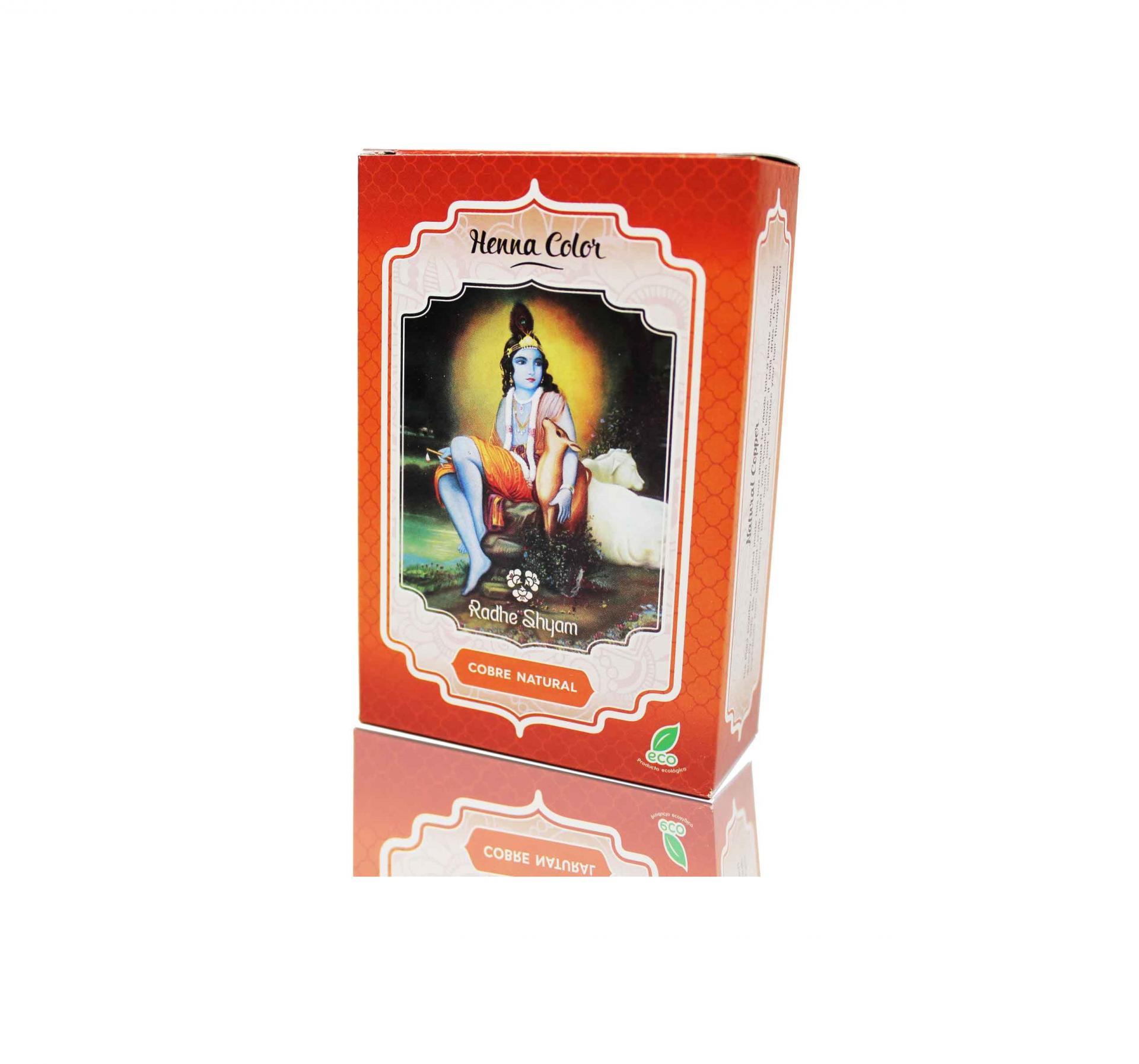 Henna Radhe Shyam Cobre Natural Polvo