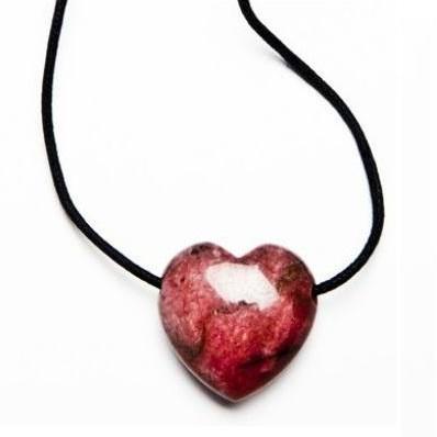 Colgante Corazón Rodonita