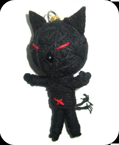 BLACK CAT Voodoodoll