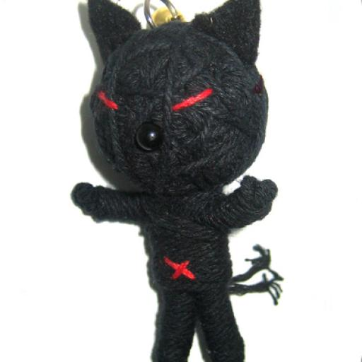 BLACK CAT Voodoodoll