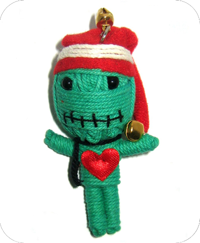 GREEN ELF Voodoodoll