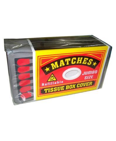 Matches tissue box cover