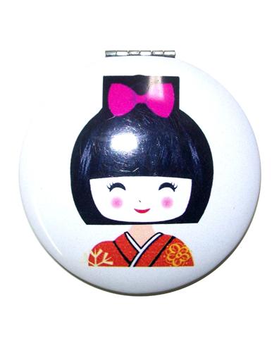 Espejito de mano Geisha rojo/flores