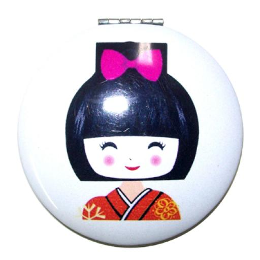 Espejito de mano Geisha rojo/flores [0]