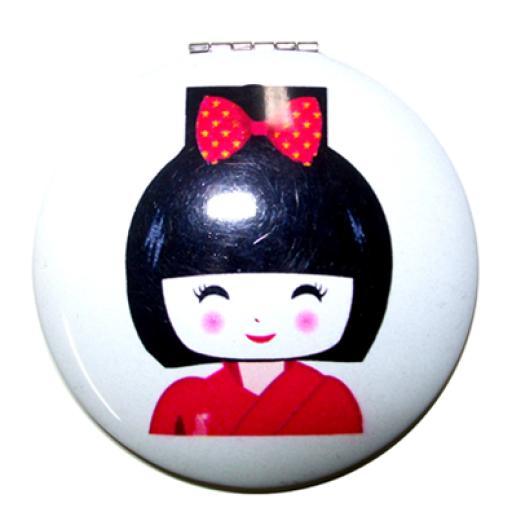 Espejito de mano Geisha rojo