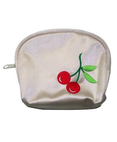 Monedero Cherry blanco