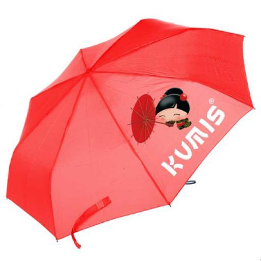 Paraguas plegable rojo Ketemeto