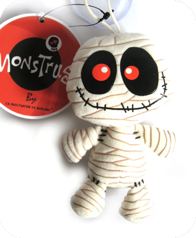 RECYCLED PAPER MUMMY suction cup