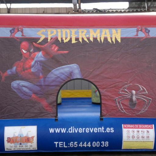 Spiderman 4x3 metros castillo hinchable