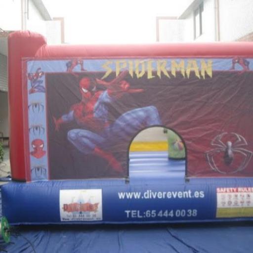 Spiderman 4x3 metros castillo hinchable [3]