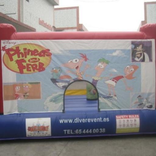 Phineas y ferb castillo hinchable 4x3 metros [1]