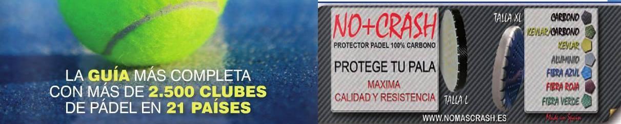 NO + CRASH EN LA GUÍA EUROPEA DE PADEL. www.nomascrash.es