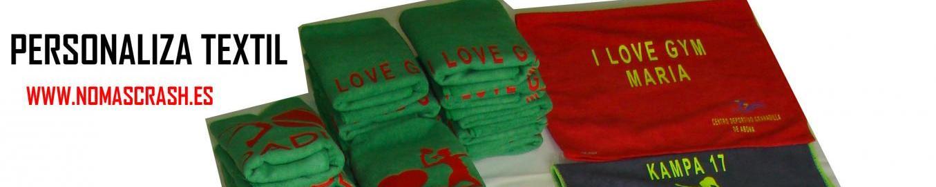 NO+CRASH personalizando textil deportivo para eventos o particulares.