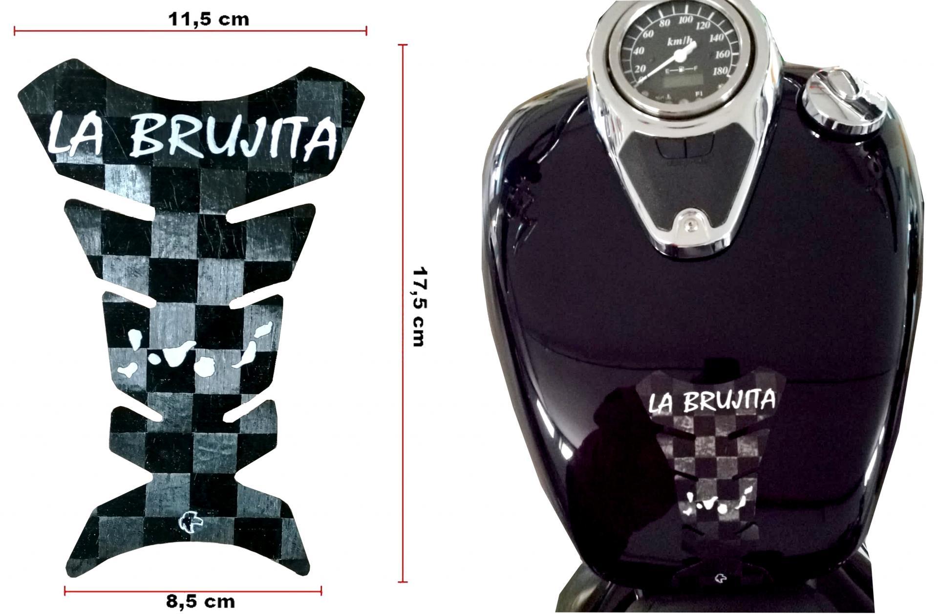 Moto Protector Personalizado 100 % carbono REAL 12K -  Protector de depósito personalizado para motocicleta - modelo universal válido para todo tipo de motos