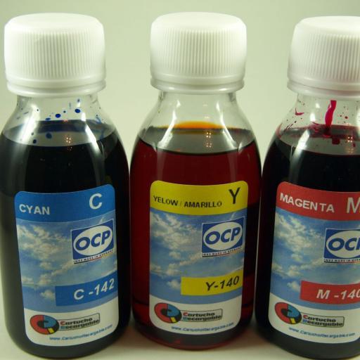 26XL / Kit de Recarga con TINTA marca OCP + Cartuchos RECARGABLES con CHIP ARC compatible con  serie 26 y 26XL. (No original epson) [1]