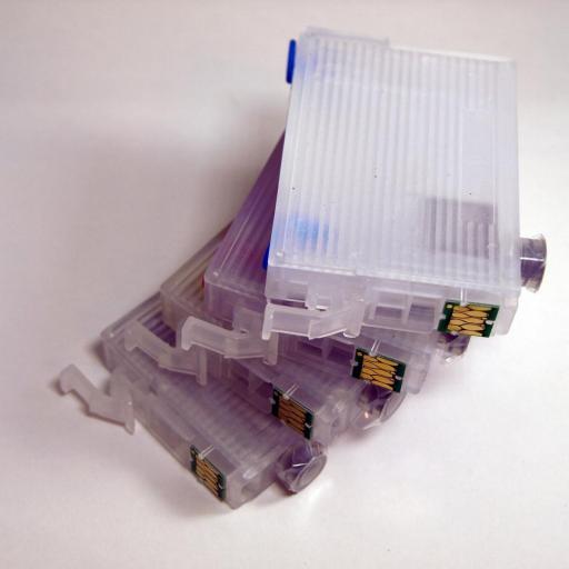 27XL / JUEGO DE CARTUCHOS RECARGABLES con Chip ARC compatibles con  Serie 27 y 27XL RELOJ. No Oem [2]