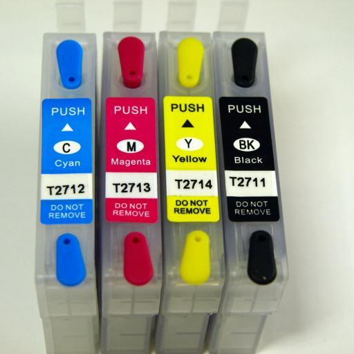 27XL / JUEGO DE CARTUCHOS RECARGABLES con Chip ARC compatibles con  Serie 27 y 27XL RELOJ. No Oem [1]