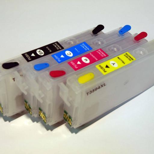 T35XL Juego de cartuchos recargables  con chip ARC especial para Epson T35XL