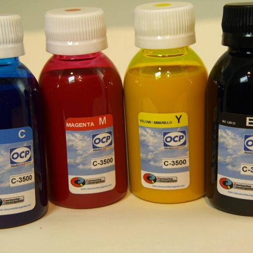 TM-C3500 Tintas PIGMENTADAS para recargar Cartuchos Tipo EPSON TM-C3500 [2]
