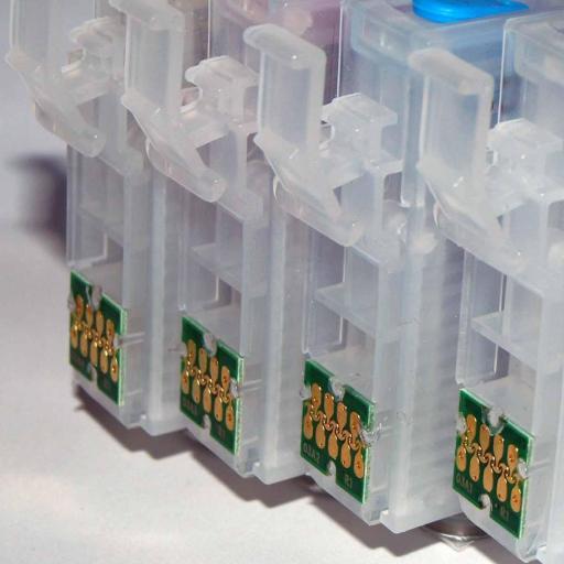603XL / JUEGO DE CARTUCHOS RECARGABLES con Chip ARC para impresoras tipo EPSON Serie 603XL  [2]