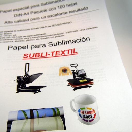 Papel de Sublimación DIN-A3 paquete de 100 HOJAS 115Grs/m2