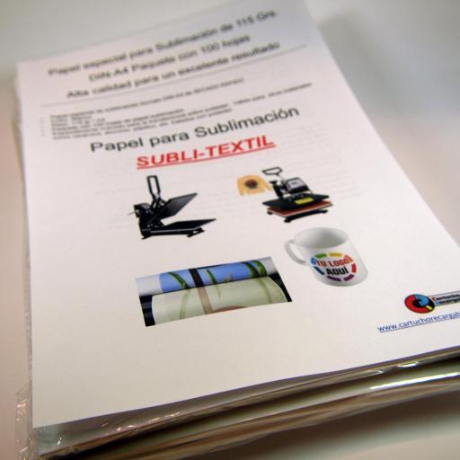 Papel Sublimación DIN-A4 115gr 100 hojas  SUBLI-TEXTIL [1]