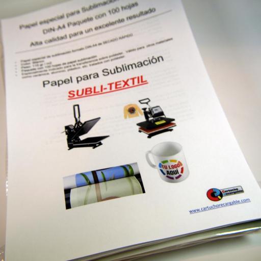 Papel Sublimación DIN-A4 115gr 100 hojas  SUBLI-TEXTIL [3]