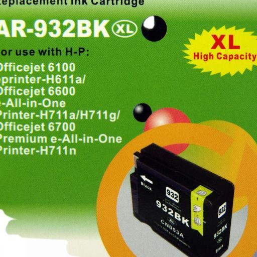 932 - 933 Juego de Cartuchos COMPATIBLES para HP Mod. 932 - 933XL 2 NEGRO+3 COLOR [1]