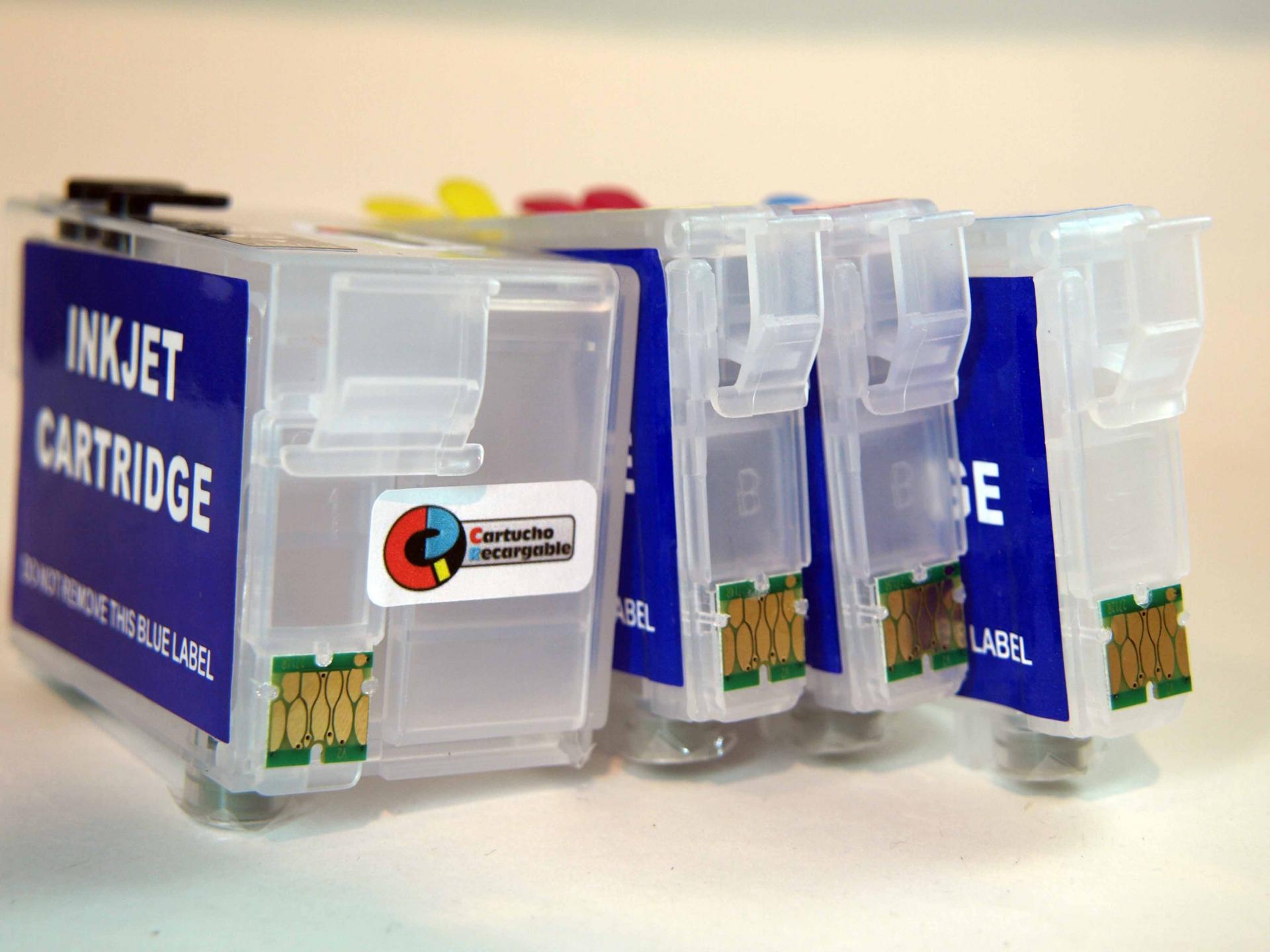 Juego de cartuchos recargables  con chip ARC especial para serie WF-7210, 7710, 7715 y 7720