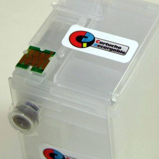 Juego de cartuchos recargables  con chip ARC especial para serie WF-7210, 7710, 7715 y 7720 [1]