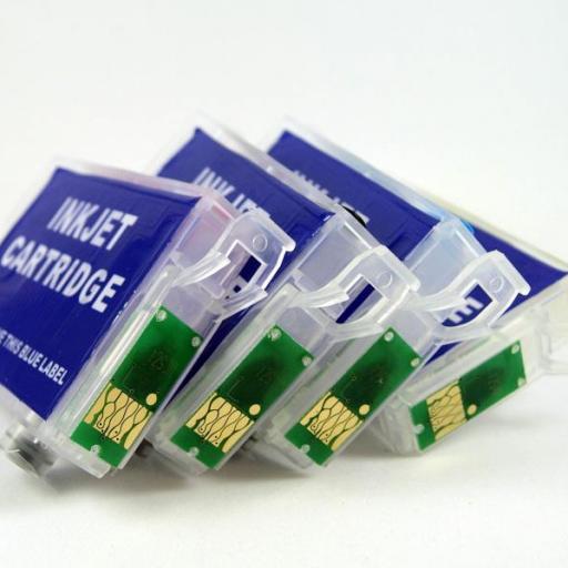 E502XL / Kit de Recarga con tinta OCP + cartuchos RECARGABLES con CHIP ARC compatible con serie E502XL  (No original epson) [2]