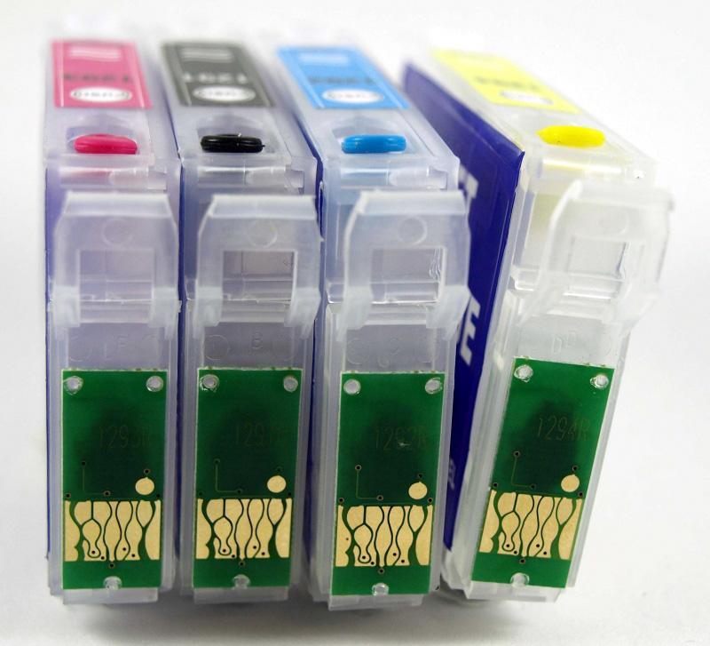 E502XL Juego de cartuchos recargables  con chip ARC especial para Epson E502XL